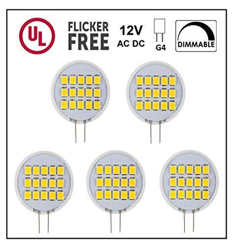 Cbconcept Ul Listed Side Pin G4 Led Light Bulb 5 Pack 1