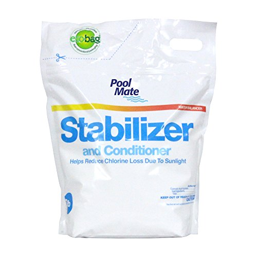 Pool mate 1 2607b stabilizer and conditioner for swimming pools 7 pound retuel for Swimming pool stabilizer too high