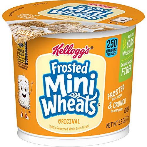 Kellogg's Frosted Mini-Wheats, Breakfast Cereal In A Cup